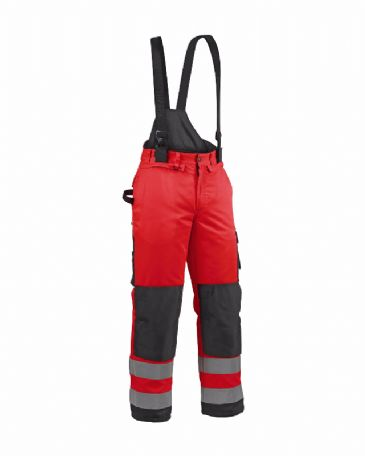 Blaklader 1885 Winter High Vis Trouser Polyester (Red/Black)